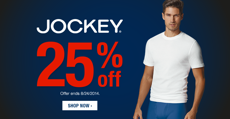 Jockey Sale 25% OFF