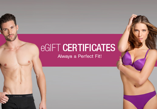 Bare Necessities gift certificates ... always a perfect fit